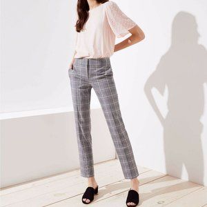 NWT Ann Taylor Loft Marisa Gray Plaid Dress Pants